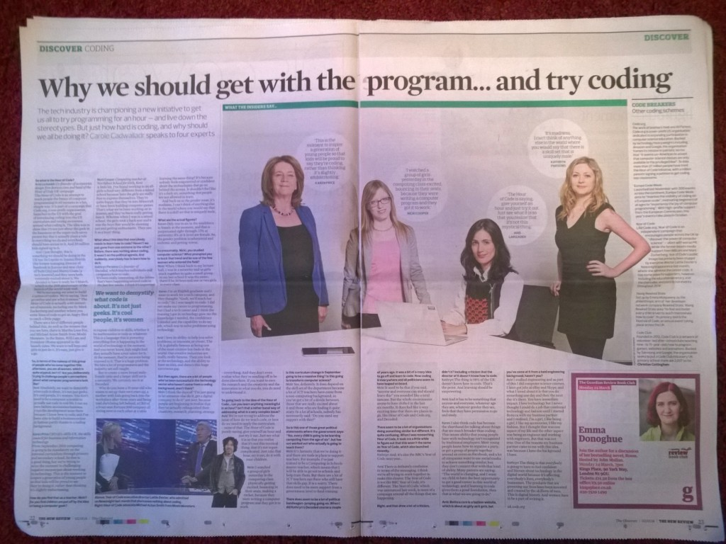 Observer Article Hour of Code