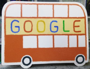 Google bus sticker