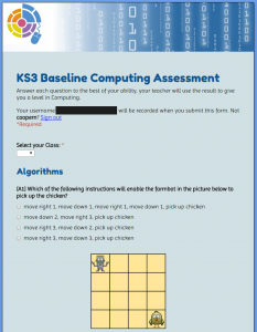 computing baseline assessment