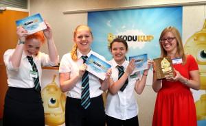 The Kodu Kup winners from Afon Taf School