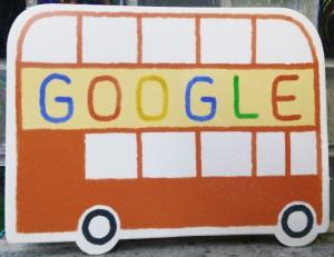 Google bus sticker