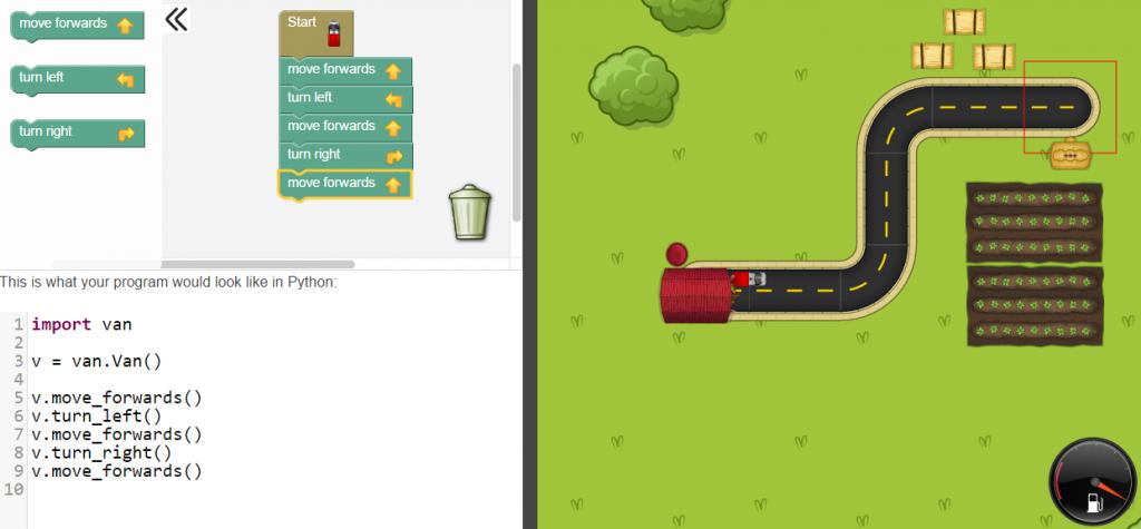 Rapid Router screenshot